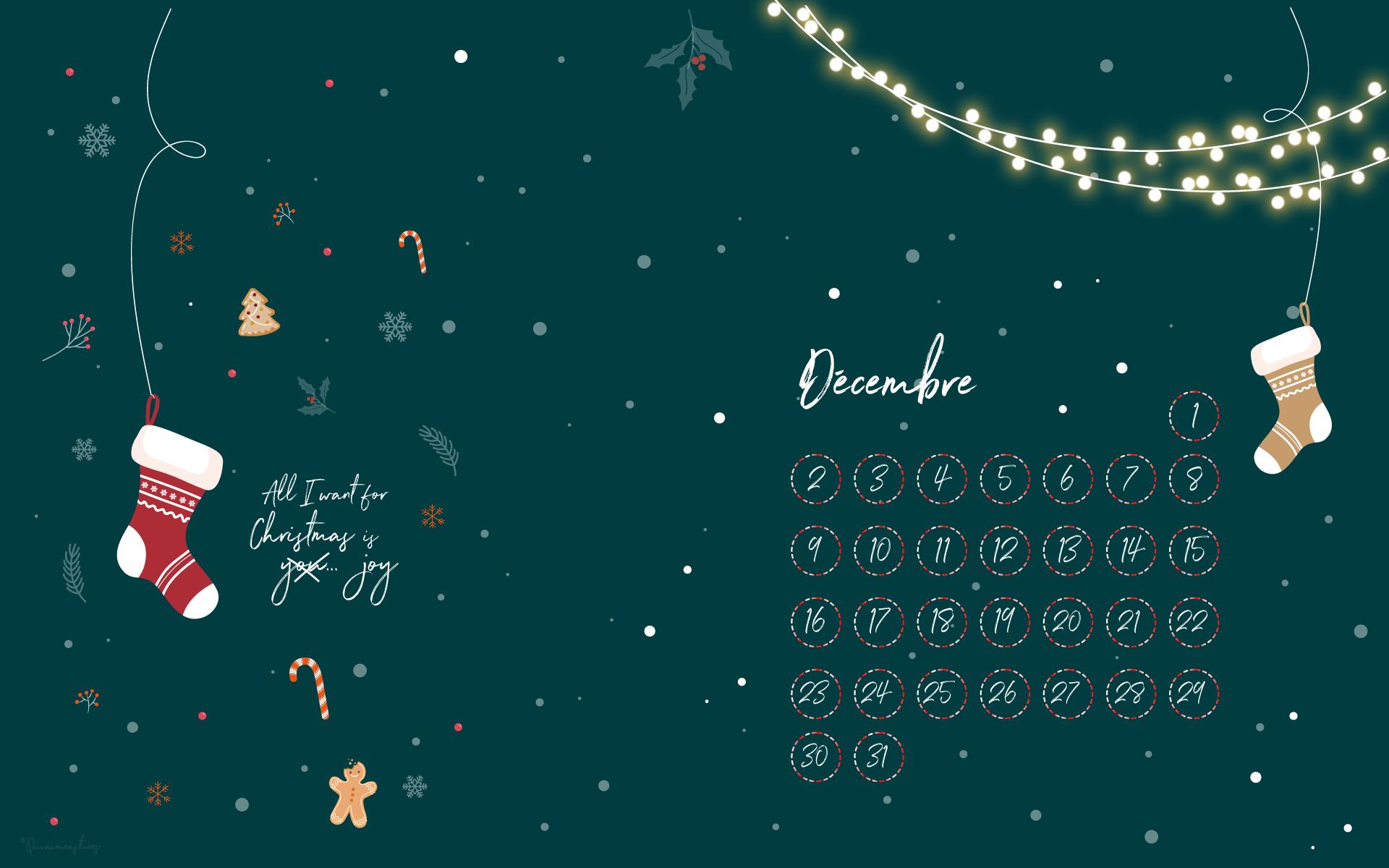 calendrier décembre 2019 Noël